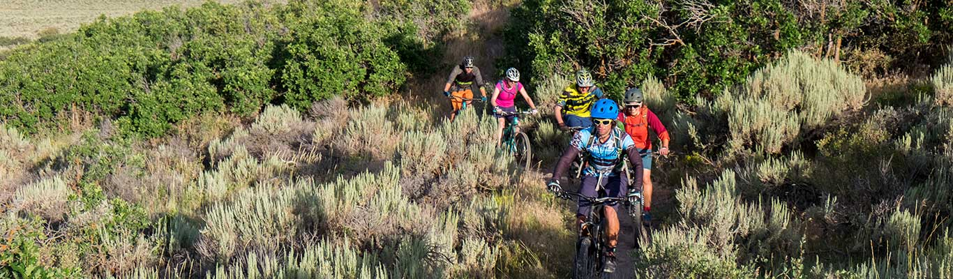 Free Mountain Biking Group Ride with White Pine Touring in Park City, UT