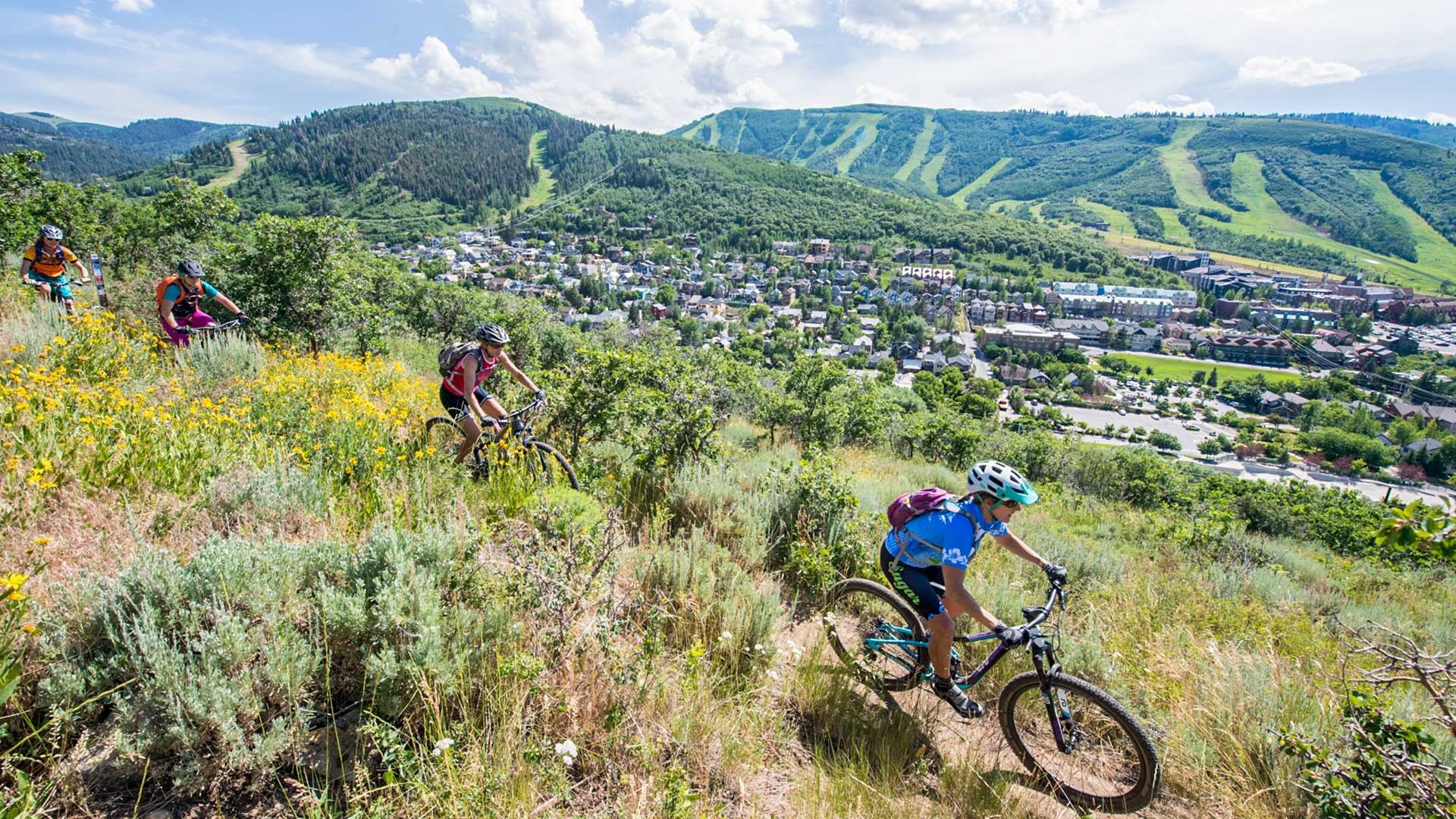 Free Women's Only Mountain Biking Ride from White Pine Touring in Park City, UT.