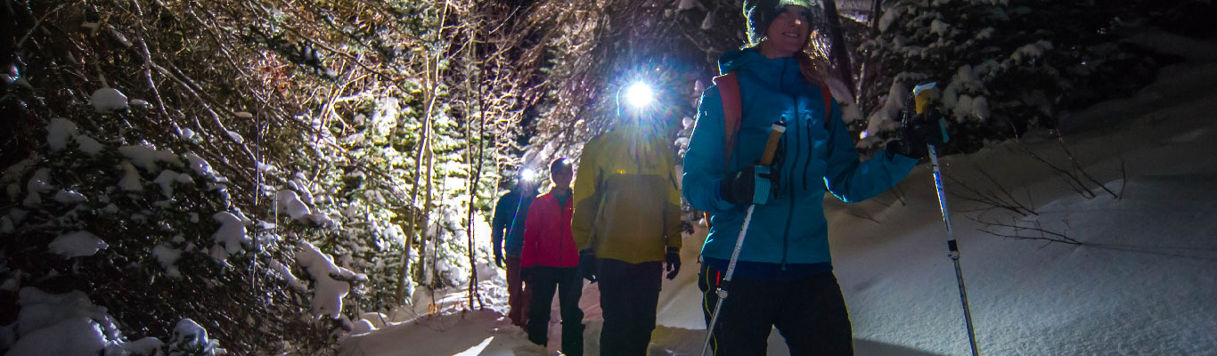 Guided Moonlight Snowshoeing Tours from White Pine Touring in Park City, UT