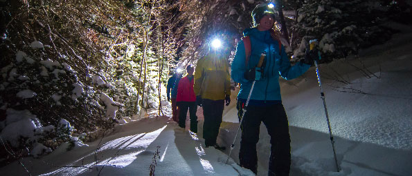 Guided Moonlight Snowshoeing Tours in Park City, UT