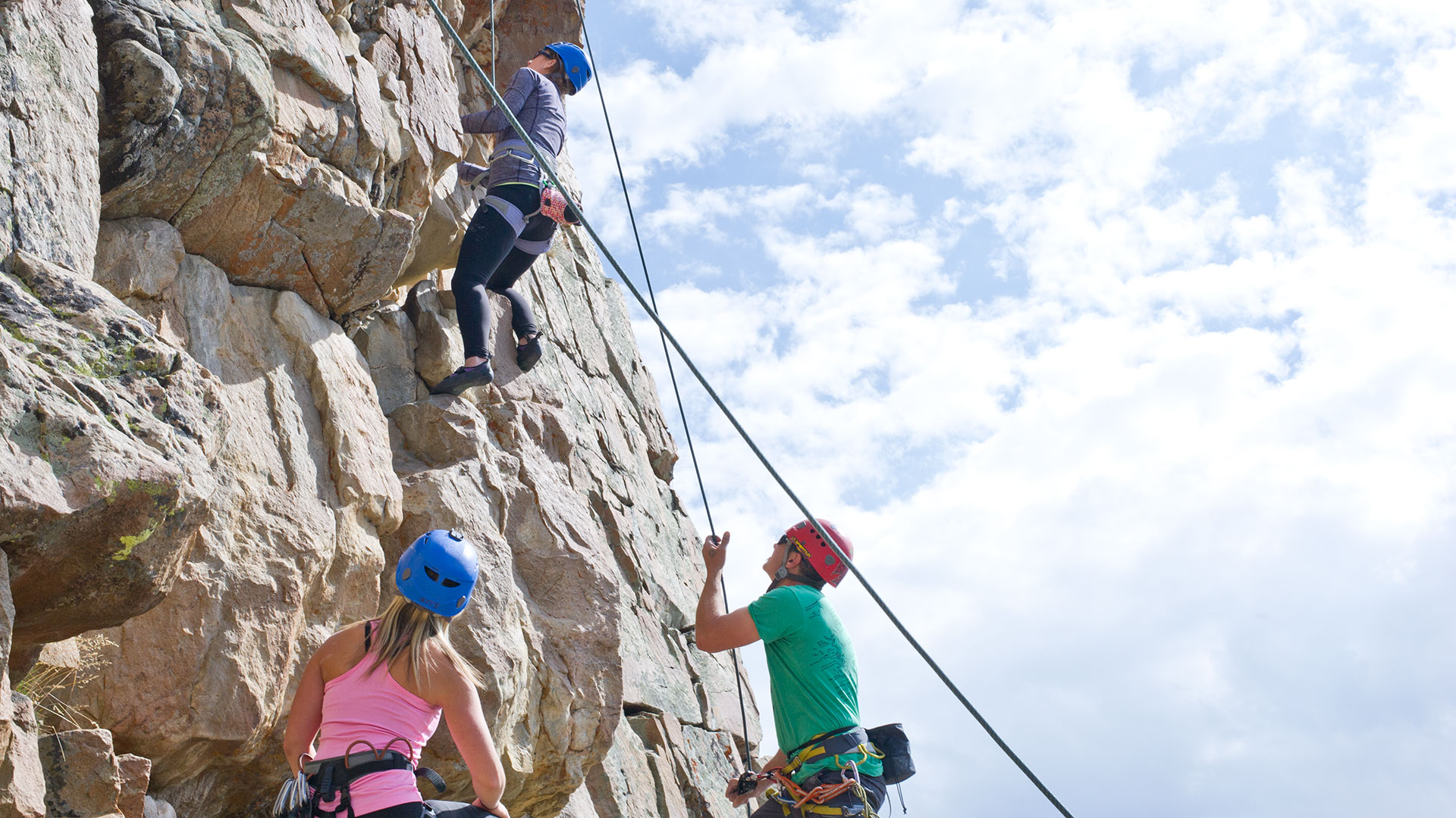 Guided Wilderness Rock Climbing Tour from White Pine Touring in Park City, UT.