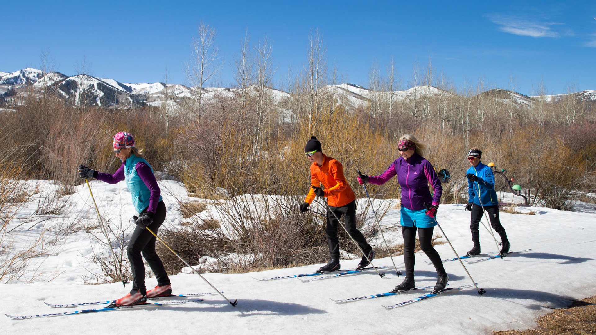 Guided Local Cross Country Skiing Tour from White Pine Touring in Park City, UT.