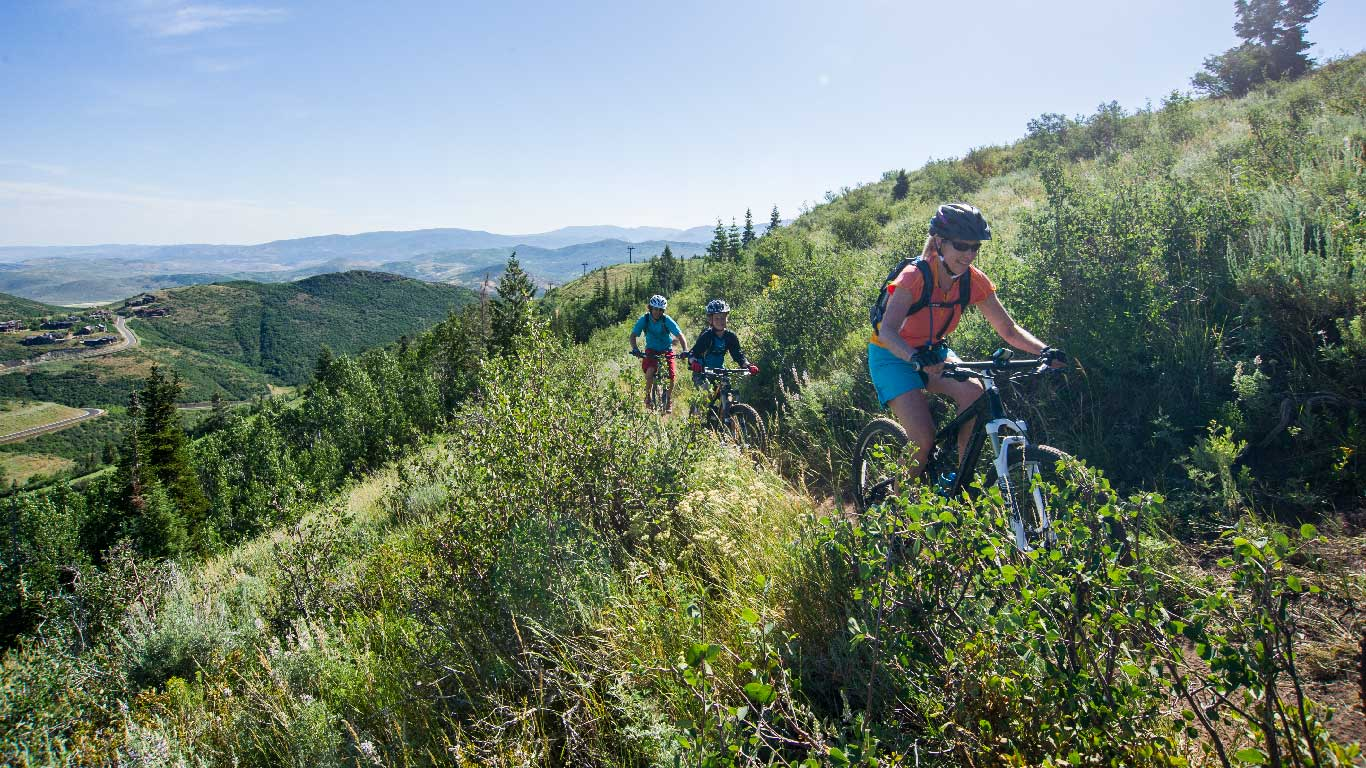 Guided Local Mountain Biking Tours from White Pine Touring in Park City, UT.