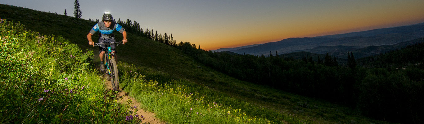 Night Riding Mountain Bike Tour from White Pine Touring in Park City, UT