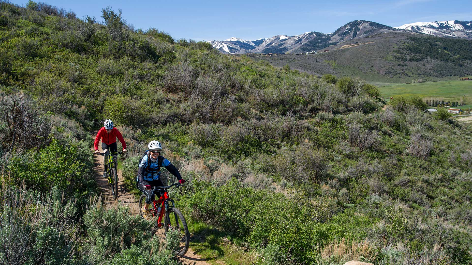 Mountain Biking 201 Loesson from White Pine Touring in Park City, UT.