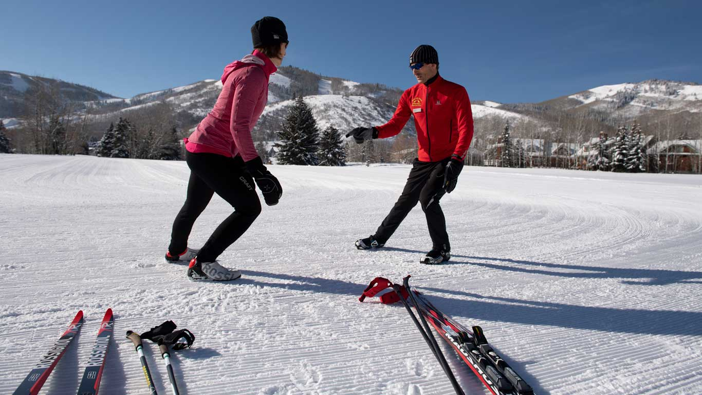 Cross Country Ski Lessons from White Pine Touring in Park City, UT.