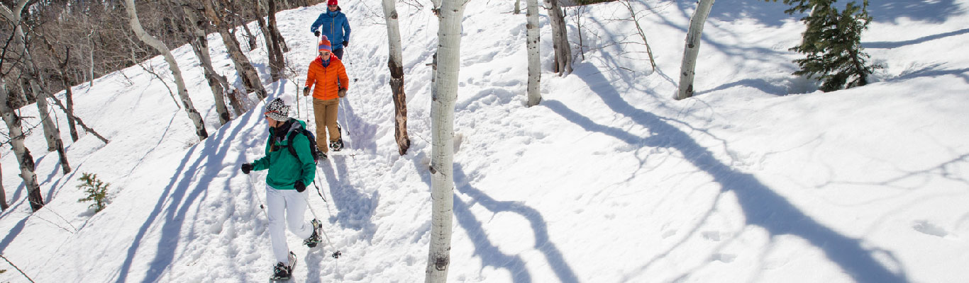 Snowshoe Rentals from White Pine Touring in Park City, UT.