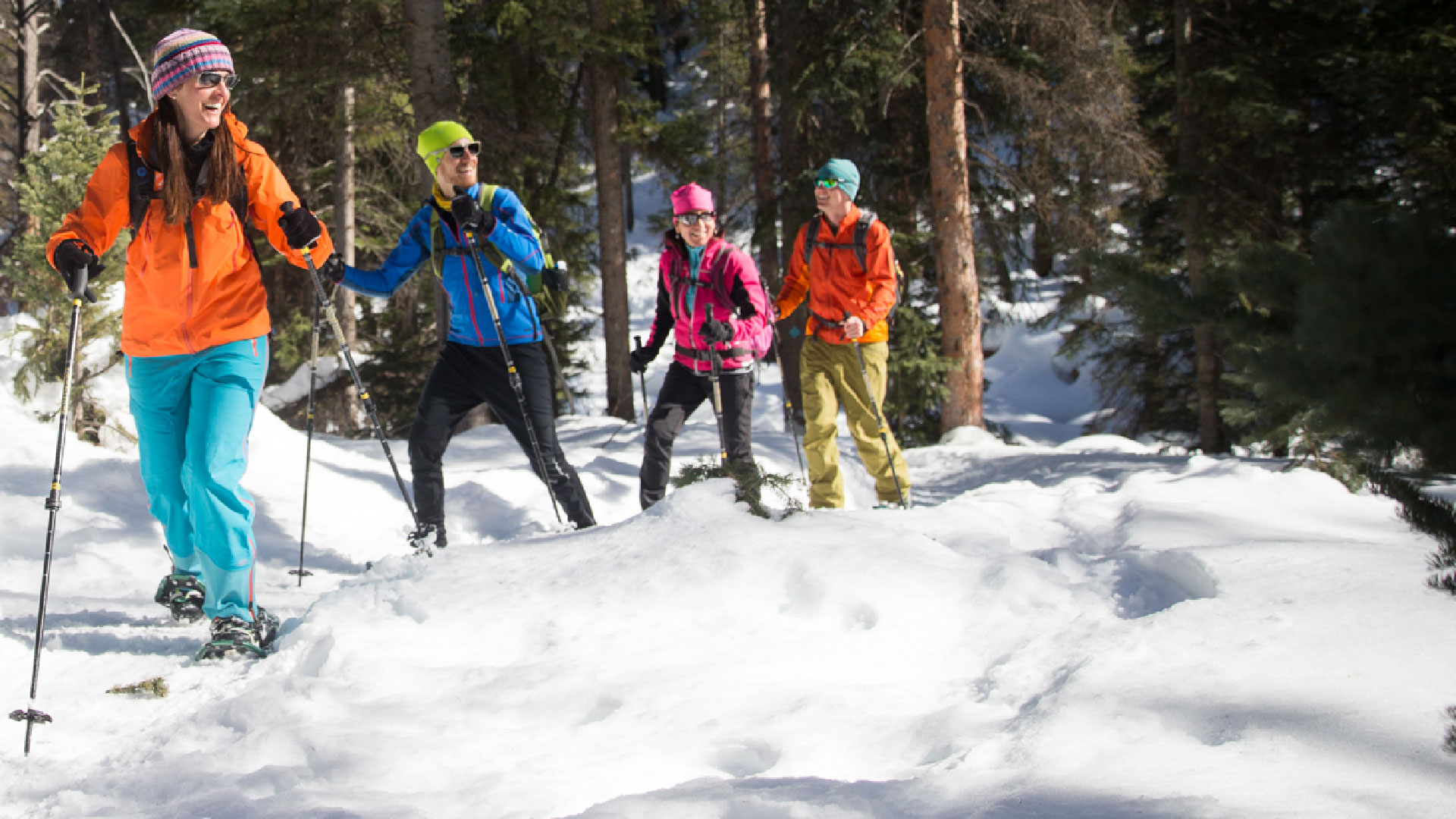 Guided Backcountry Snowshoeing Tour from White Pine Touring in Park City, UT.
