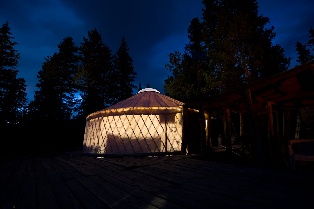 White Pine Touring Uinta Mountains Yurt Camping View At Night