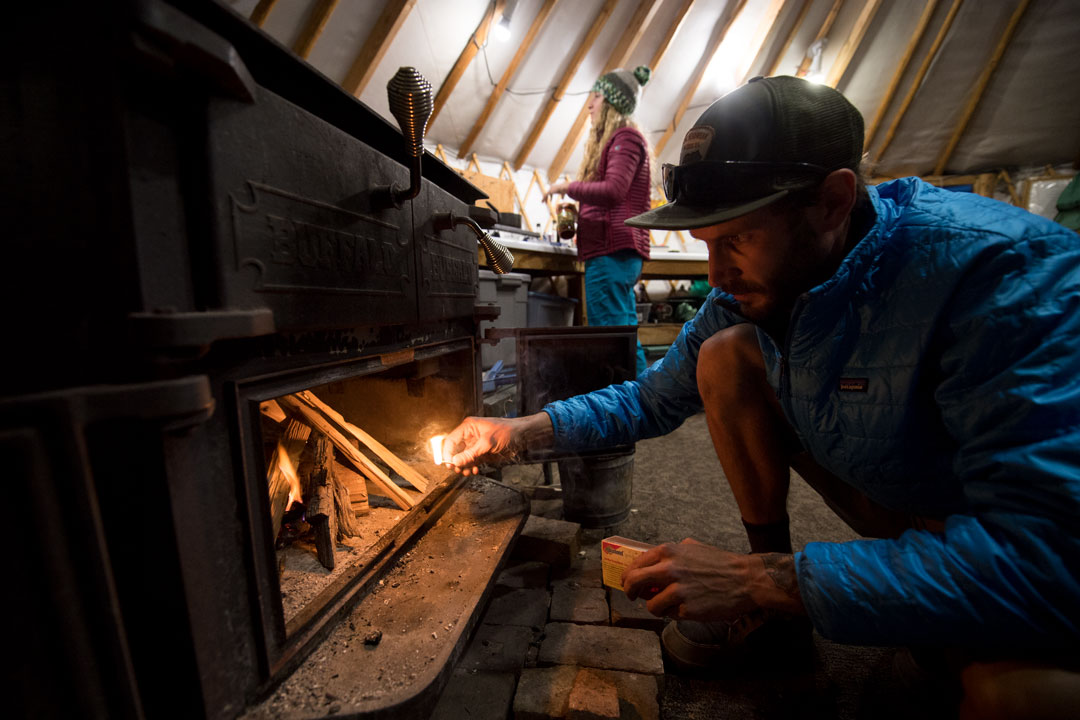 White Pine Touring Uinta Mountains Yurt with Wood Burning Stove